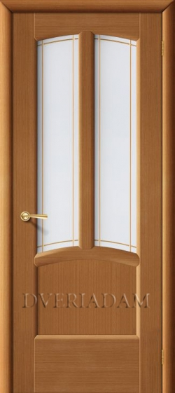 Межкомнатная  шпонированная дверь Ветразь ПО орех
