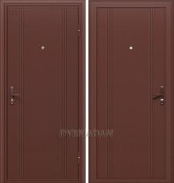 Входные стальные двери 101 Антик Медь Серии  Door Out