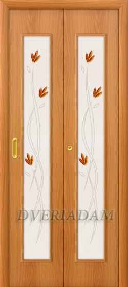 Ламинированная Дверь-книжка 22Х ск Миланский Орех