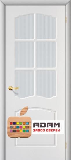 Межкомнатная дверь с ПВХ-пленкой Альфа ПО, белая