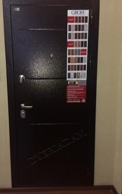 Входная дверь GROFF Т2-221 Wenge Veralinga (95мм)  (серия Technics)