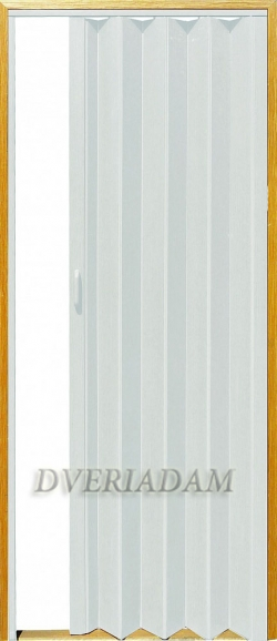 Раздвижная дверь-гармошка с мягким соединением, цвет Белёный ясень