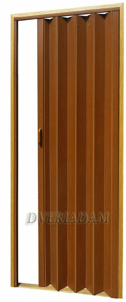 Раздвижная дверь-гармошка с мягким соединением, цвет Вишня