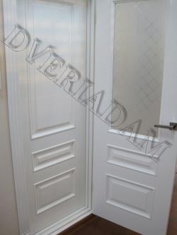 Крашенные эмалевые двери придадут воздушность и в тоже время строгость любому помещению.