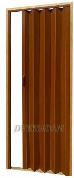 Раздвижная дверь-гармошка с мягким соединением, цвет Дуб темный