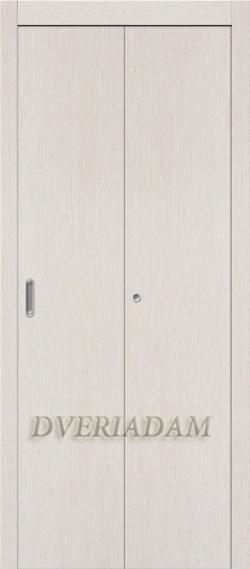 Ламинированная Дверь-книжка ГостАдам Беленый дуб