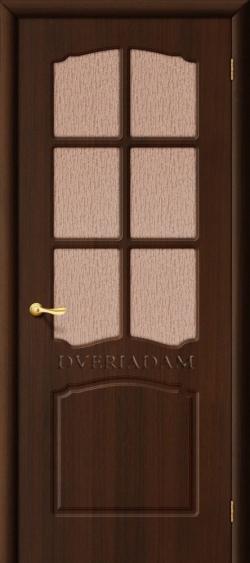 Межкомнатная дверь с ПВХ-пленкой Альфа ПГ венге