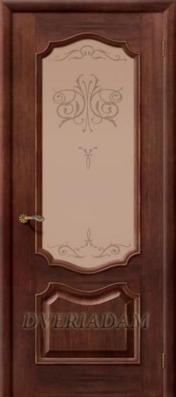 Межкомнатная  шпонированная дверь Премьера ПО  Вензель Патина Голд
