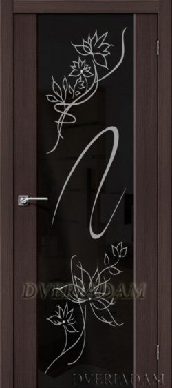 Межкомнатная дверь с Эко шпоном S-13 Stamp Wenge Veralinga