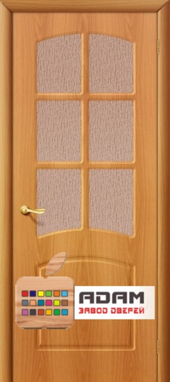 Межкомнатная дверь с ПВХ-пленкой Кэролл ПО, миланский орех