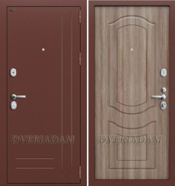 Входная дверь GROFF P2-200 П-1 Темный Орех (серия Premium)