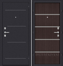 Стальная дверь Оптим Лайн (66мм) Wenge Crosscut