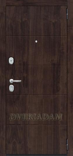 Стальная дверь Оптим Прайм Cappuccino Veralinga/White Pearl