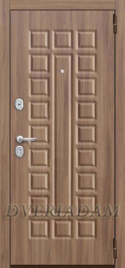 Стальная дверь Оптим Твин Шимо темный/Шимо светлый