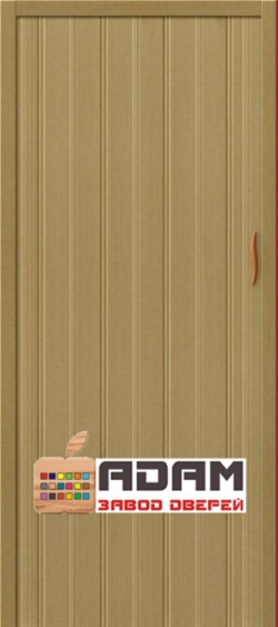 Межкомнатная раздвижная дверь (Гармошка) Адам-008 Светлый дуб