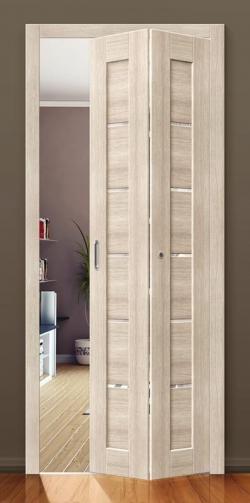 Межкомнатная складная дверь с эко шпоном Порта-22 Anegri Veralinga