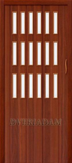 Межкомнатная раздвижная дверь (Гармошка) Тип-018 Итальянский орех