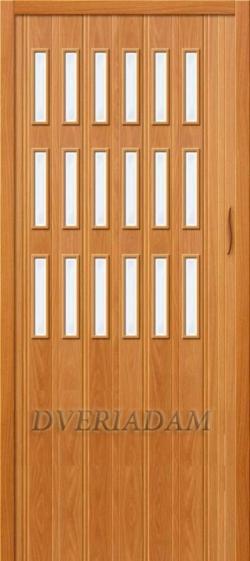 Межкомнатная раздвижная дверь (Гармошка) Тип-018 Миланский орех