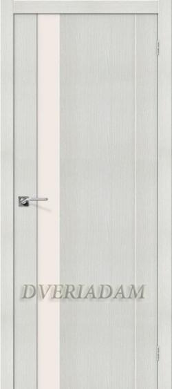 Межкомнатная дверь с эко шпоном Порта-11 ПО Bianco Veralinga