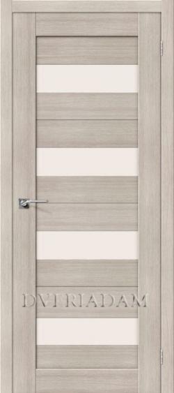 Межкомнатная дверь с эко шпоном  Порта-23 ПО Cappuccino Veralinga