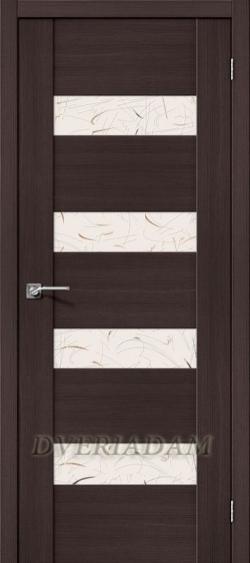 Межкомнатная дверь с Эко шпоном VM4 Wenge Veralinga Silver Art
