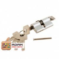 Цилиндр ключ+фиксатор хром