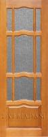 Межкомнатная дверь из массива сосны АМПИР остекленная