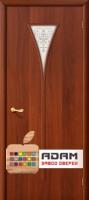 Межкомнатная ламинированная дверь 4С3х итальянский орех (3 Х)