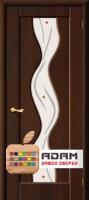 Межкомнатная дверь с ПВХ-пленкой Вираж ПО, венге