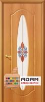 Межкомнатная дверь с ПВХ-пленкой Орбита ПО, миланский орех