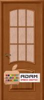 Межкомнатная шпонированная дверь Капри-3 Люкс ПО золотой орех