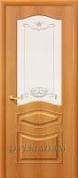 Межкомнатная дверь с ПВХ-пленкой Модена ПО, миланский орех