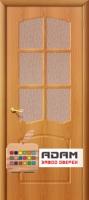 Межкомнатная дверь с ПВХ-пленкой Альфа ПО, миланский орех