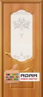 Межкомнатная дверь с ПВХ-пленкой Перфекта миланский орех (художественное стекло)