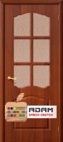 Межкомнатная дверь с ПВХ-пленкой Лидия ПО, итальянский орех