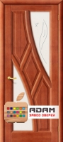 Межкомнатная дверь из Массива ОЛЬХИ Клэр ПО махагон