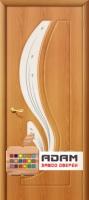 Межкомнатная дверь с ПВХ-пленкой Лотос ПО, миланский орех