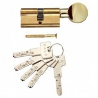 Цилиндр Kale ключ+фиксатор золото
