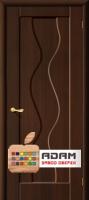Межкомнатная дверь с ПВХ-пленкой Вираж ПГ, венге
