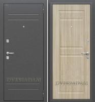 Стальная дверь Оптим Трио Шимо светлый