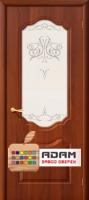 Межкомнатная дверь с ПВХ-пленкой Перфекта итальянский орех (художественное стекло)