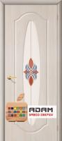 Межкомнатная дверь с ПВХ-пленкой Орбита ПО, белый лен