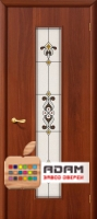 Межкомнатная ламинированная дверь Тиффани-3 итальянский орех (23 Х)