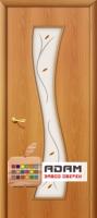 Межкомнатная ламинированная дверь Лиана ПО миланский орех (11 Ф)