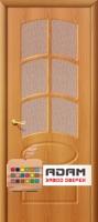 Межкомнатная дверь с ПВХ-пленкой Неаполь ПО, миланский орех