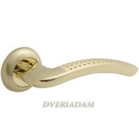Дверная ручка Bravo A-426 матовое золото/золото