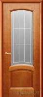 Межкомнатная шпонированная дверь Александрит  ПО светлый анегри