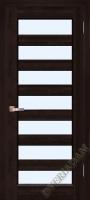 Дверь Премьер Плюс ОКА (цвет венге)  Остекленная