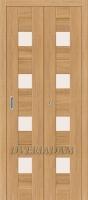 Межкомнатная складная дверь с эко шпоном Порта-23 Anegri Veralinga