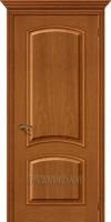 Межкомнатная шпонированная дверь Капри-3 Люкс ПГ золотой орех